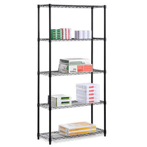 "72"" Five Tier Shelf Black"
