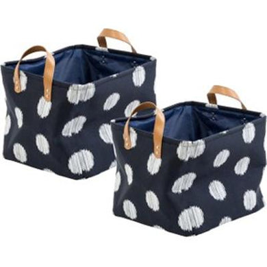 Canvas Scribble Totes 2 Pc Blu