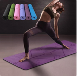 Fitness Mat with Position Lines - Non Slip With