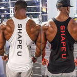 Men's Gym Singlet Y-Back Sleeveless Muscle Vest Stringer Bodybuilding Tank Tops