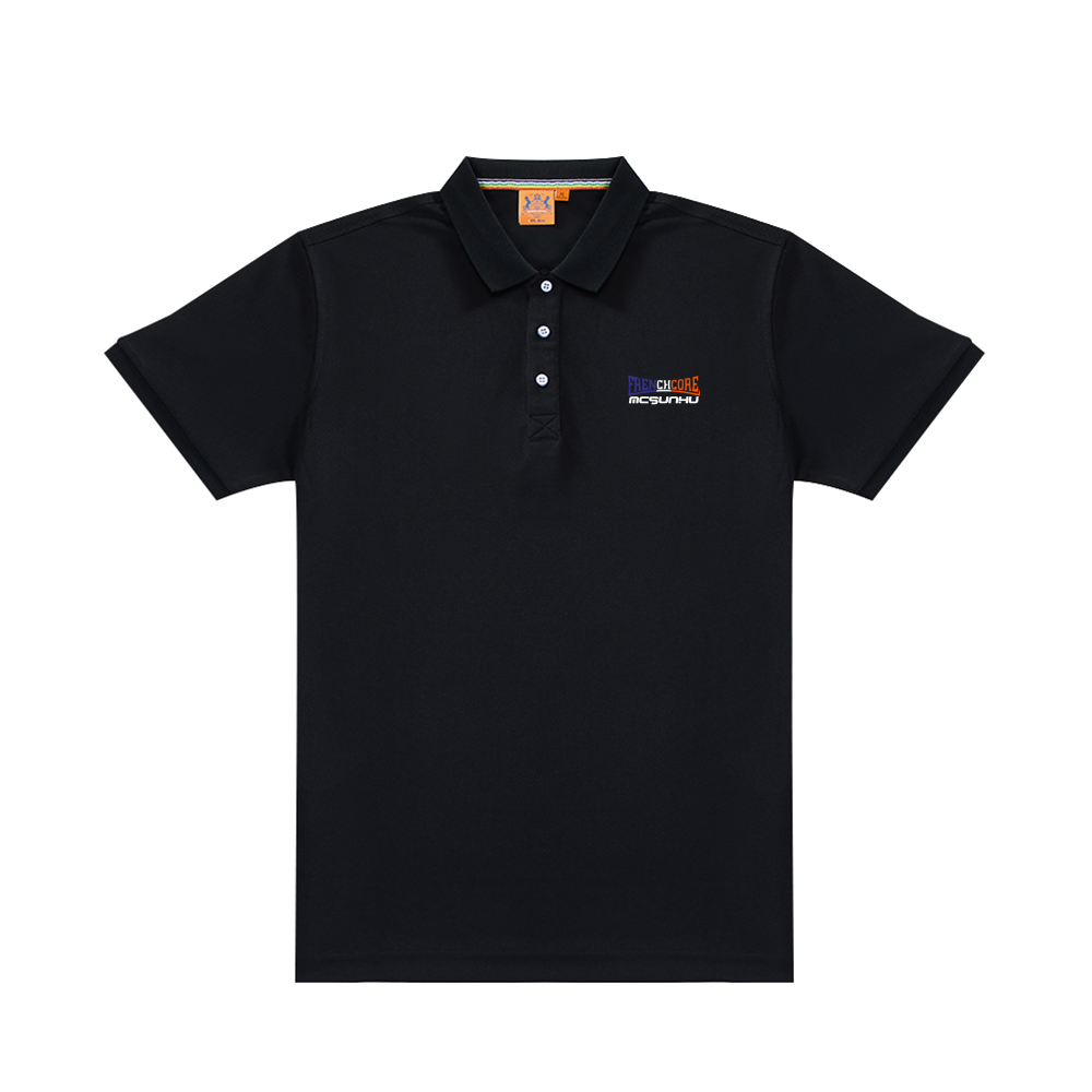 McSunHu - Frenchcore Men's Black Classic Polo Shirt