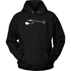 Aggression Snowboard's Kid On Bike Hoodie