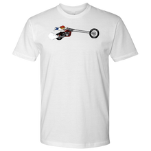 Load image into Gallery viewer, Aggression Snowboard's Kid On Bike T-Shirt