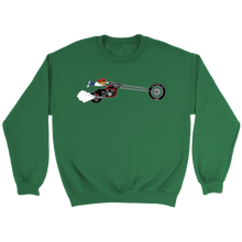 Load image into Gallery viewer, Aggression Snowboard's Kid On Bike Sweatshirt