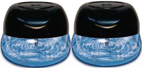 Bluonics Fresh Aire Purifier, Includes a bottle of Breathe Easy Fragrance. Has 6 LED Color Changing Lights (2 Pack)