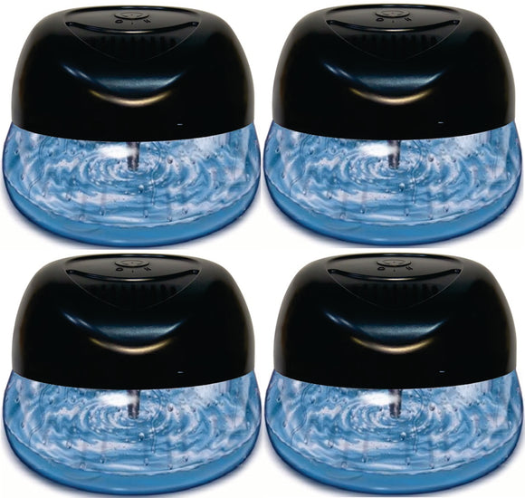 Bluonics Fresh Aire Purifier, Includes a Bottle of Sleep Well Fragrance with 6 LED Color Changing Lights (4 Pack)