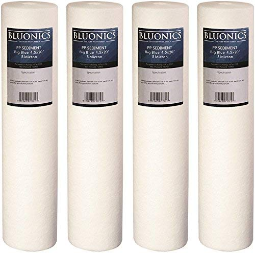 Big Blue Sediment Replacement Water Filters 4pcs (5 Micron) 4.5