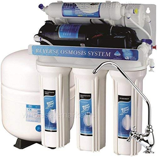 5 Stage Reverse Osmosis with Booster Pump - RO Water Filter System (50 GPD)