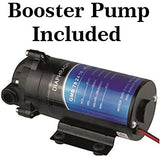 5 Stage Reverse Osmosis with Booster Pump 50 GPD Treat Virus and Bacteria 4 gallon tank
