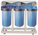 Bluonics Whole House Well Water Filter 3 Stage Home Purifier with Big Blue Size 4.5 x 10 Filters for Rust, Iron, Sand, Dirt, Sediment Bad Taste Odor