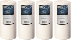 "Big Blue Sediment Replacement Water Filters 4pcs (5 Micron) 4.5"" x 10"" Whole House Cartridges"