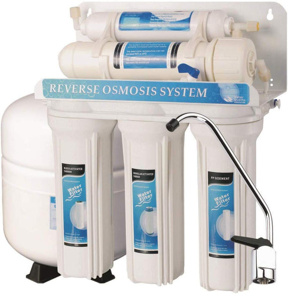 5 Stage Undersink Reverse Osmosis Drinking Water Filter System RO Home Purifier with NSF Certified Membrane