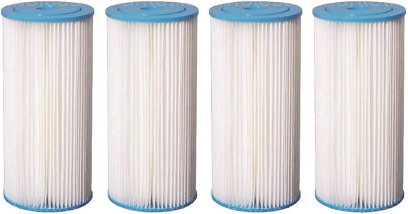 Big Blue Pleated Sediment Water Filters 4 Washable 4.5 x 10 Cardridges -5 Micron