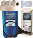 "BLUONICS 10"" Big Blue Whole House Water Filter with 5 Micron 4.5 x 10"" Carbon/Charcoal Block Filter Cartridge for Chlorine, Pesticides, Herbicides, Insecticides, Bad Taste and Odor"