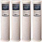 """4-pack BLUONICS Big Blue Carbon Block Replacement Water Filters (5 Micron) 4.5"""" x 20"""" for Chlorine, Pesticides, Insecticides, Bad Taste and Odor"""