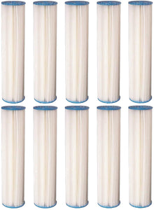 Big Blue Pleated Sediment Water Filters 10 Washable 4.5 x 20 Cardridges 5 Micron