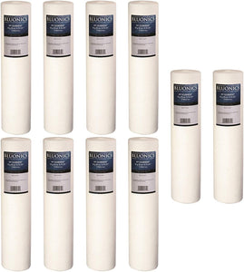"Big Blue Sediment Replacement Water Filters 10 (5 Micron) 4.5"" x 20"" Cartridges"