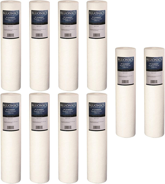 Big Blue Sediment Replacement Water Filters 10 (5 Micron) 4.5