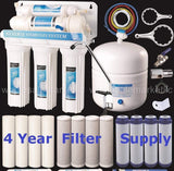5 Stage Reverse Osmosis Drinking Water System RO Home Purifier Treat Virus and Bacteria with 15 Total Filters
