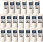 "20-pack 4.5"" x 10"" Big Blue Sediment Replacement Water Filters 5-Micron Whole House Cartridges for Rust, Iron, Sand, Dirt and Undissolved Particles"