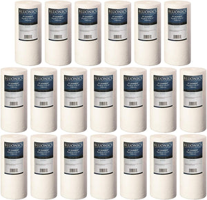 "4.5"" x 10"" Big Blue Sediment Replacement Water Filters Full Case of 20 Pcs (5 Micron) Standard Size Whole House Cartridges for Rust, Iron, Sand, Dirt, Sediment and Undissolved Particles"