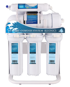 Bluonics 400GPD Tankless 5 Stage Reverse Osmosis Drinking Water Under Sink RO Home & Commercial Purifier Treat Virus and Bacteria with Stand
