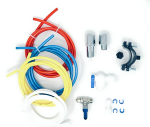 "Bluonics Installation Kit For Standard 1/4"" Output Reverse Osmosis Systems, Refrigerator and Water Filters"