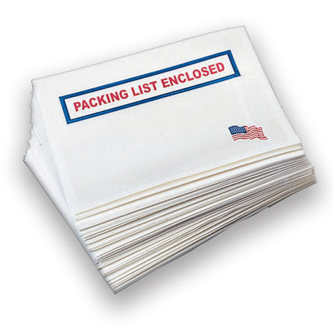 "4.5'x5.5"" USA Logo Packing List Enclosed Envelope Slips"
