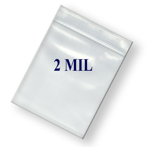 "8"" Zipper Width 2 Mil Clear Poly Reclosable Ziplock Bags"