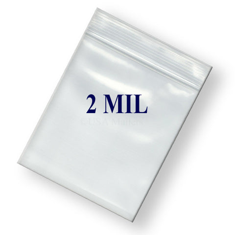 "14"" Zipper Width 2 Mil Clear Poly Reclosable Ziplock Bags"
