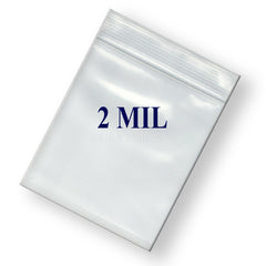 "6"" Zipper Width 2 Mil Clear Poly Reclosable Ziplock Bags"