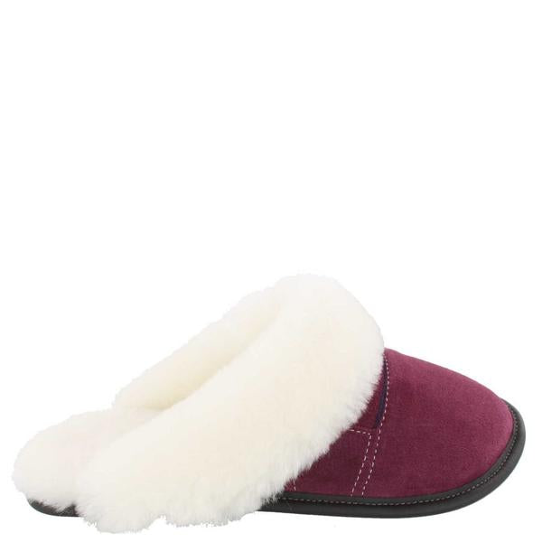 Two-Tone Mule Head Slip-On Slippers - Plum