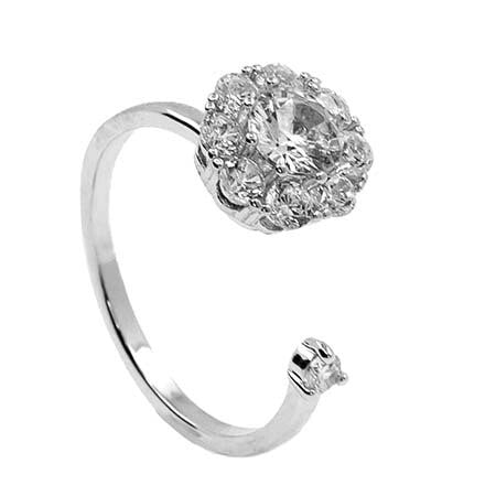 Adjustable Ring w/ Spinning CZ
