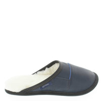 Womans - Two-Tone All-Purpose Leather Mule Slippers (Navy)