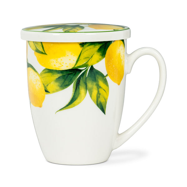 Lemon Tree Covered Mug & Strainer