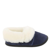Woman's Lazybone Sheepskin Slippers Navy Blue