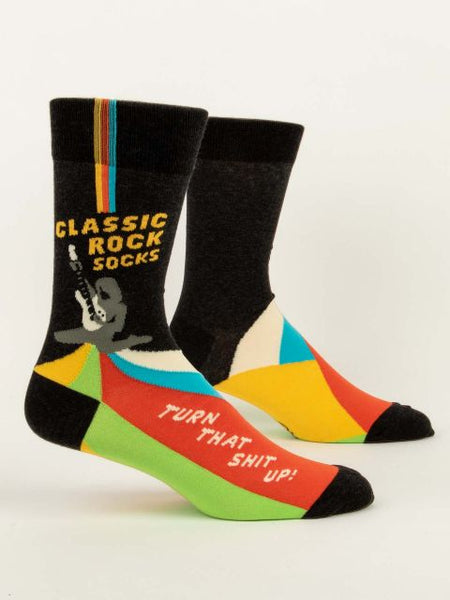 Classic Rock Socks- Mens Crew Socks