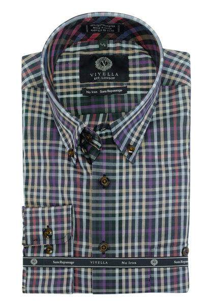 Viyella 100% Cotton No Iron Button Down Sport Shirt