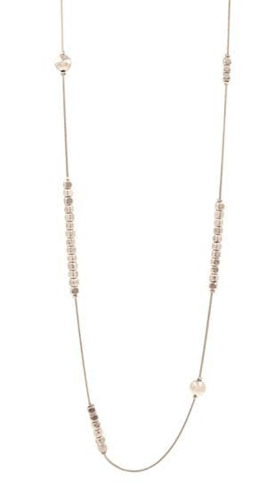 Long Necklace with Small Square Beads