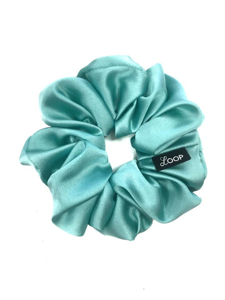 Mint Satin Scrunchie
