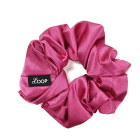 Pink Rose Satin Scrunchie