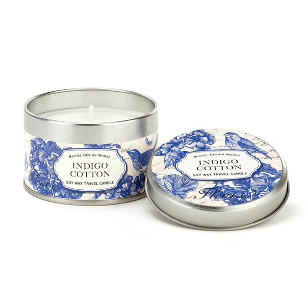 Indigo Cotton Travel Candle