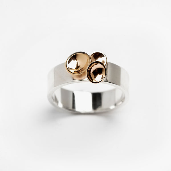 Champagne Ring ss/14kt