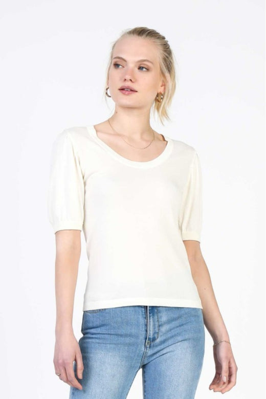 Basic Knit Short Sleeve Top