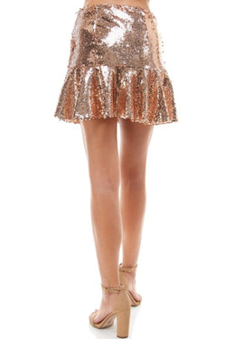 Sequin Flare Skirt