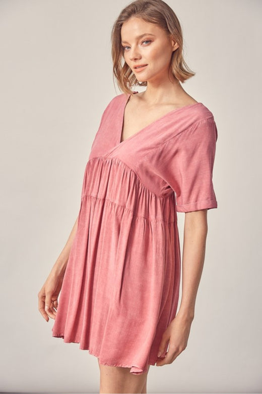 Washed Rose Flowy Dress