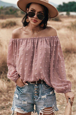 Off Shoulder Dotted Top