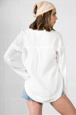 Bell Sleeve Basic V-Neck