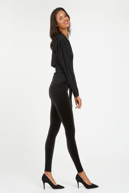 Spanx Velvet Leggings, Black