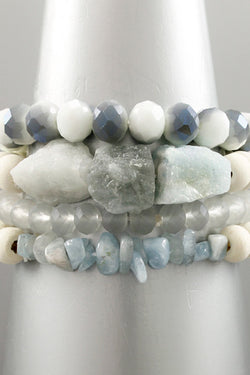 Stone & Glass Bead Bracelet